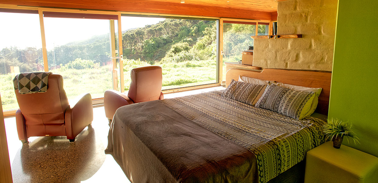 Interior king bed